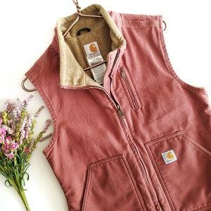 Carhartt | Rust Orange Vest Jacket Small